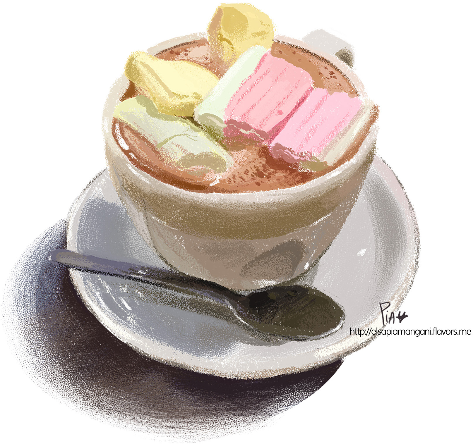 hot chocolate with marshmallows on top